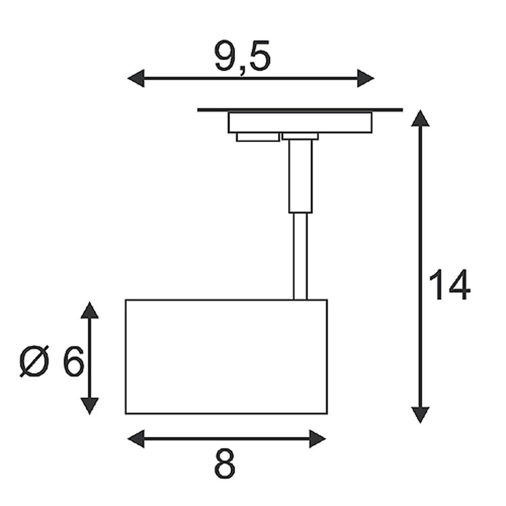 SLV Bima II Leuchtenkopf schwarz 2xGU10 max. 50W inkl. 1P. -Adapter 2