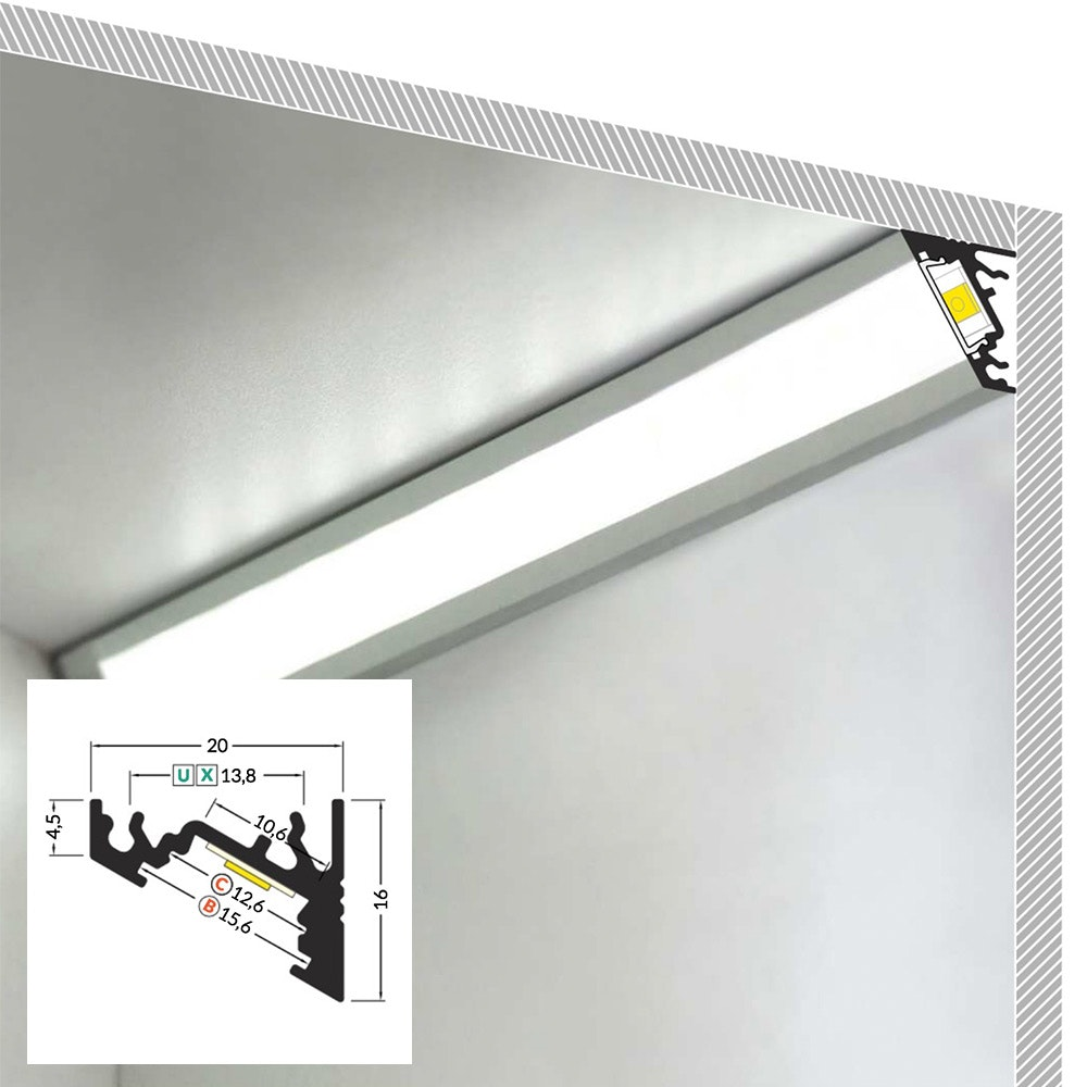 LED Aluminium Profil 2m alle Varianten  3