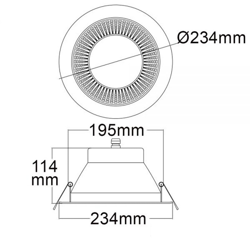 LED Downlight Reflektor Pro Ø 23,4cm 30W UGR 4