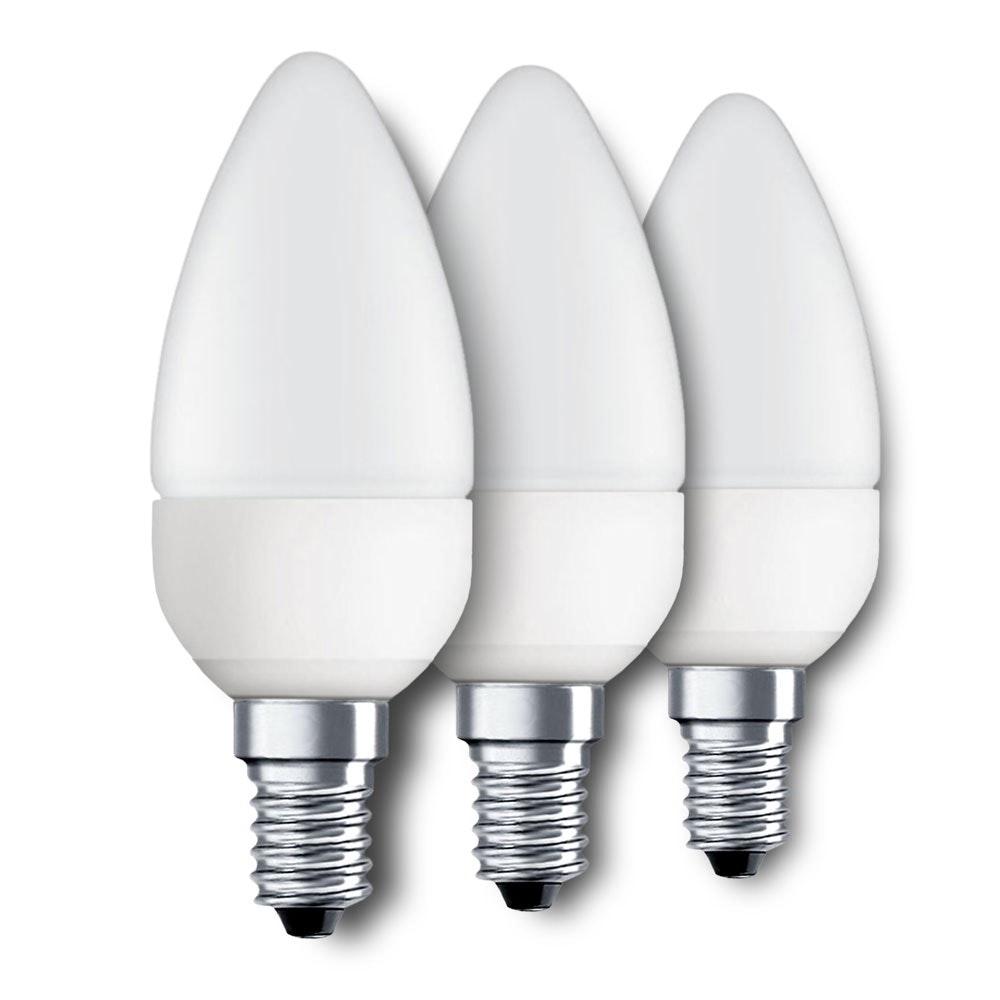 E14 LED-Leuchtmittel Kerze 3er-Set 4W, 320lm 1