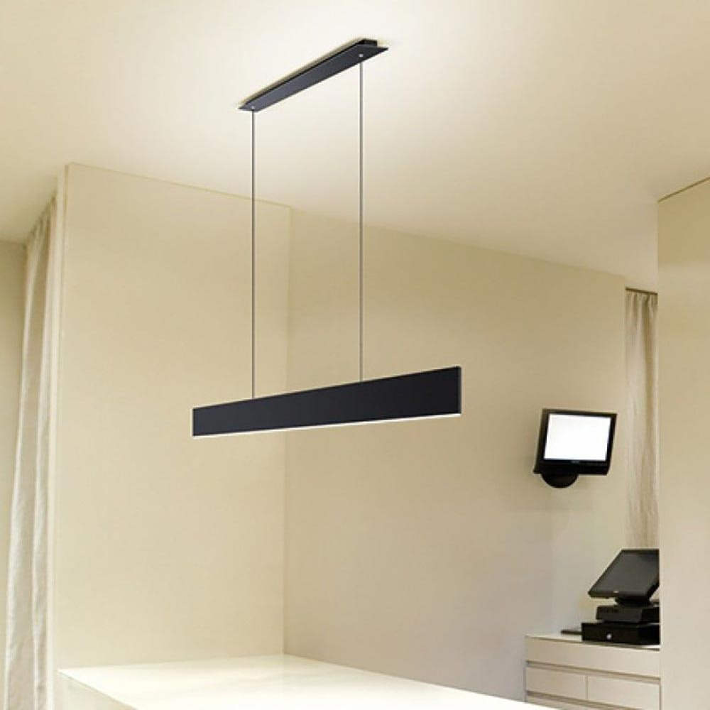 Molto Luce After 8 LED Schreibtischlampe 122cm Schwarz Dali dimmbar thumbnail 4