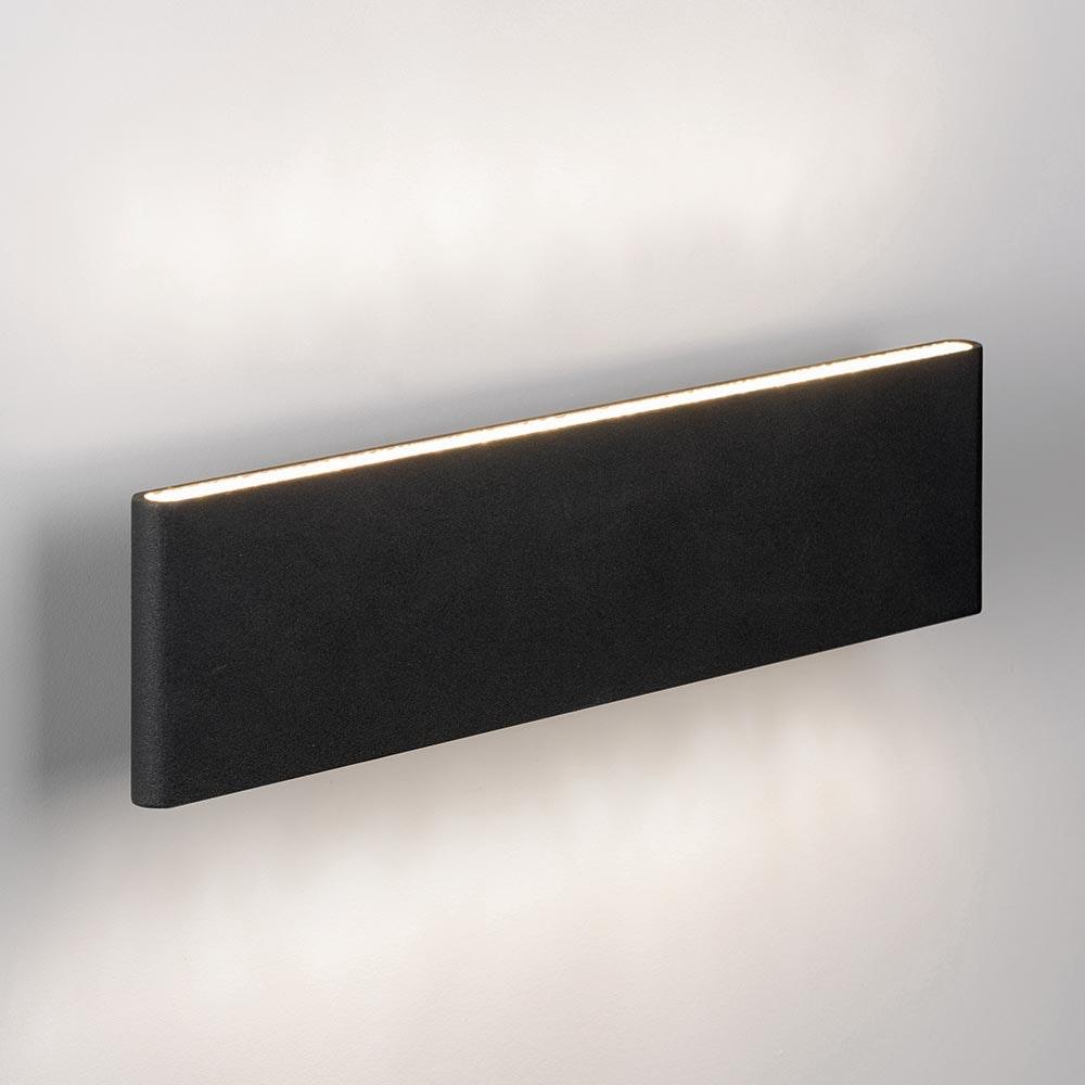 Slim LED-Wandleuchte Up&Down 540lm Schwarz eloxiert 1