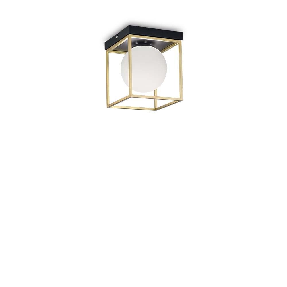 Ideal Lux Deckenleuchte Lingotto Messing, Schwarz