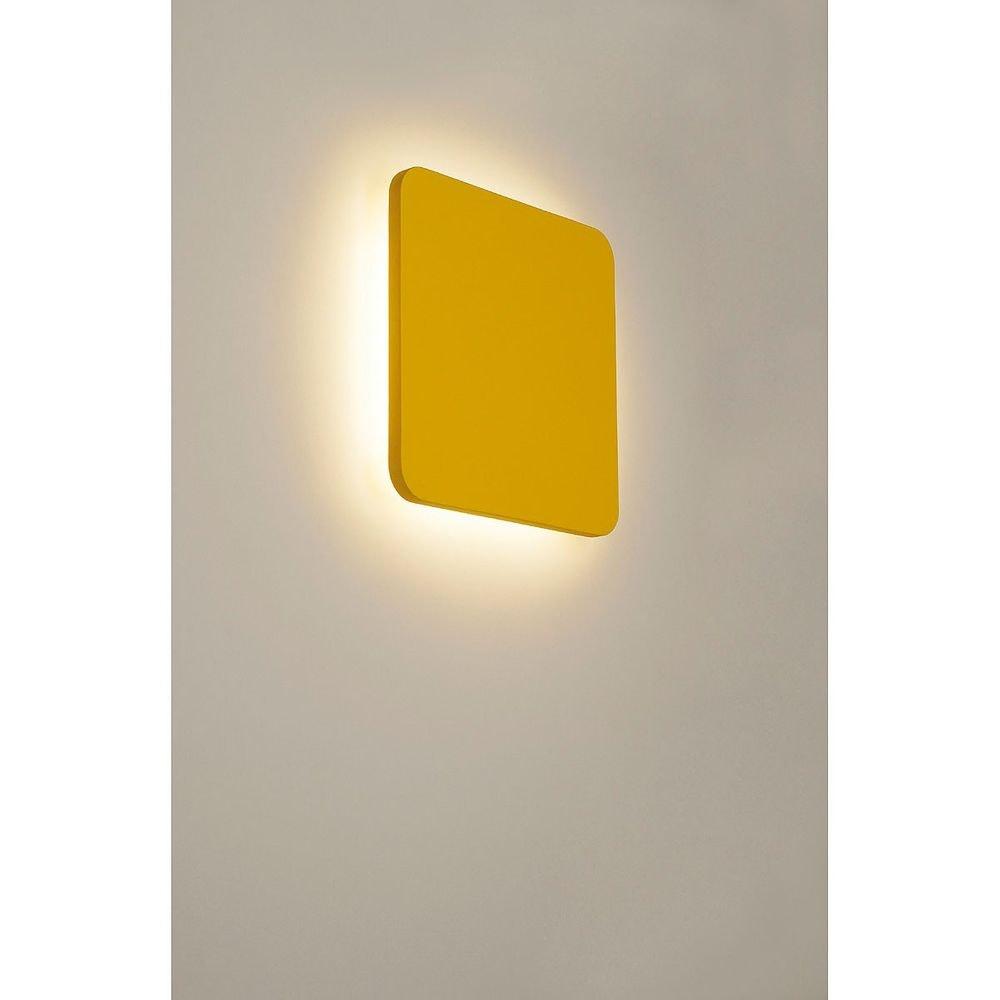 SLV Plastra Square Wandleuchte eckig weisser Gips 48 LED 3000K 1