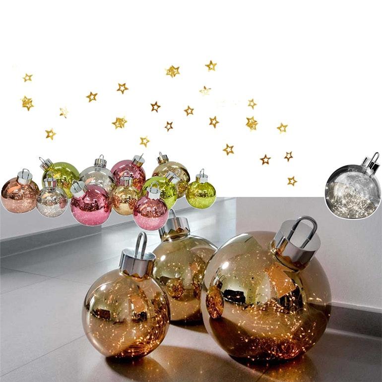 kugelförmige Tischleuchte in weihnachtlichem  Stil