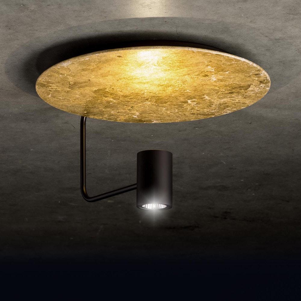 Reflektorplatte für Disc Deckenleuchte Blattgold 2