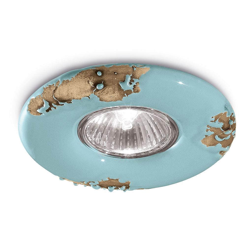 Ferroluce Vintage Keramik-Einbaustrahler Ø 11cm thumbnail 6