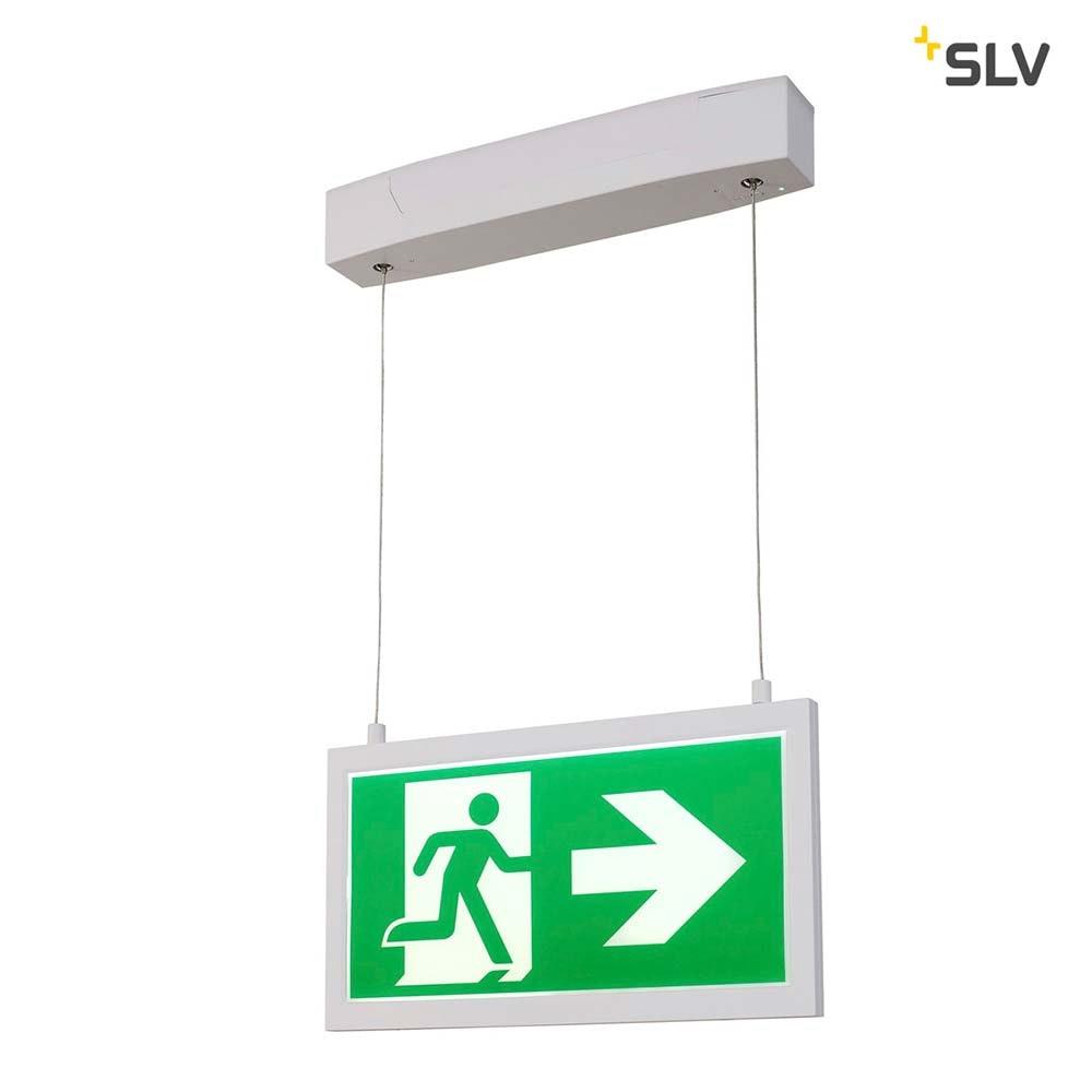 SLV P-Light Emergency Series Exit Sign Big Pendant Weiß 1