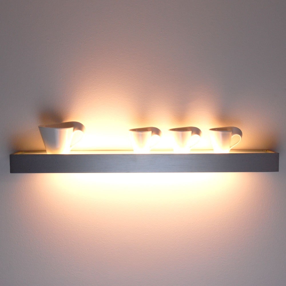 s.LUCE Cusa LED-Lichtboard 70cm Wandleuchte Up&Down Alu-gebürstet 10