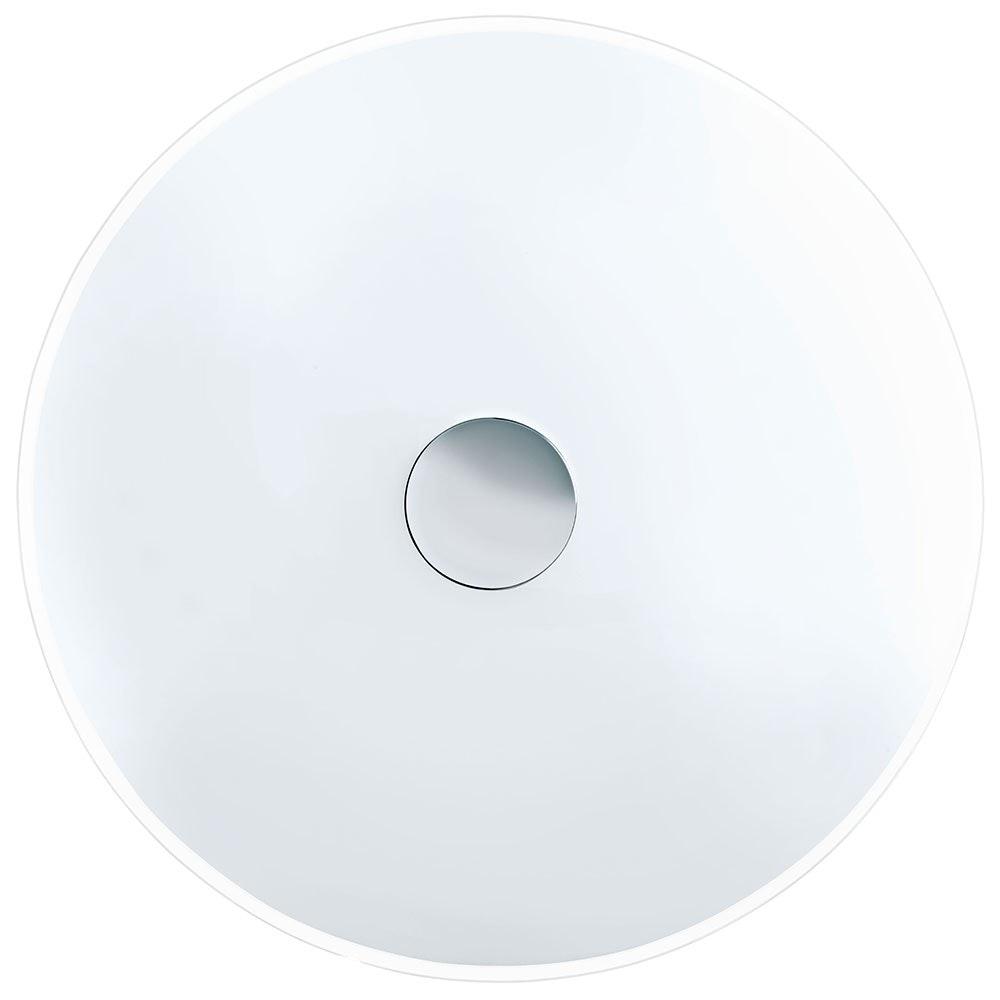 Nube Wand- & Deckenleuchte 2-flammig Ø 42cm Weiß, Klar, Weiß, Chrom