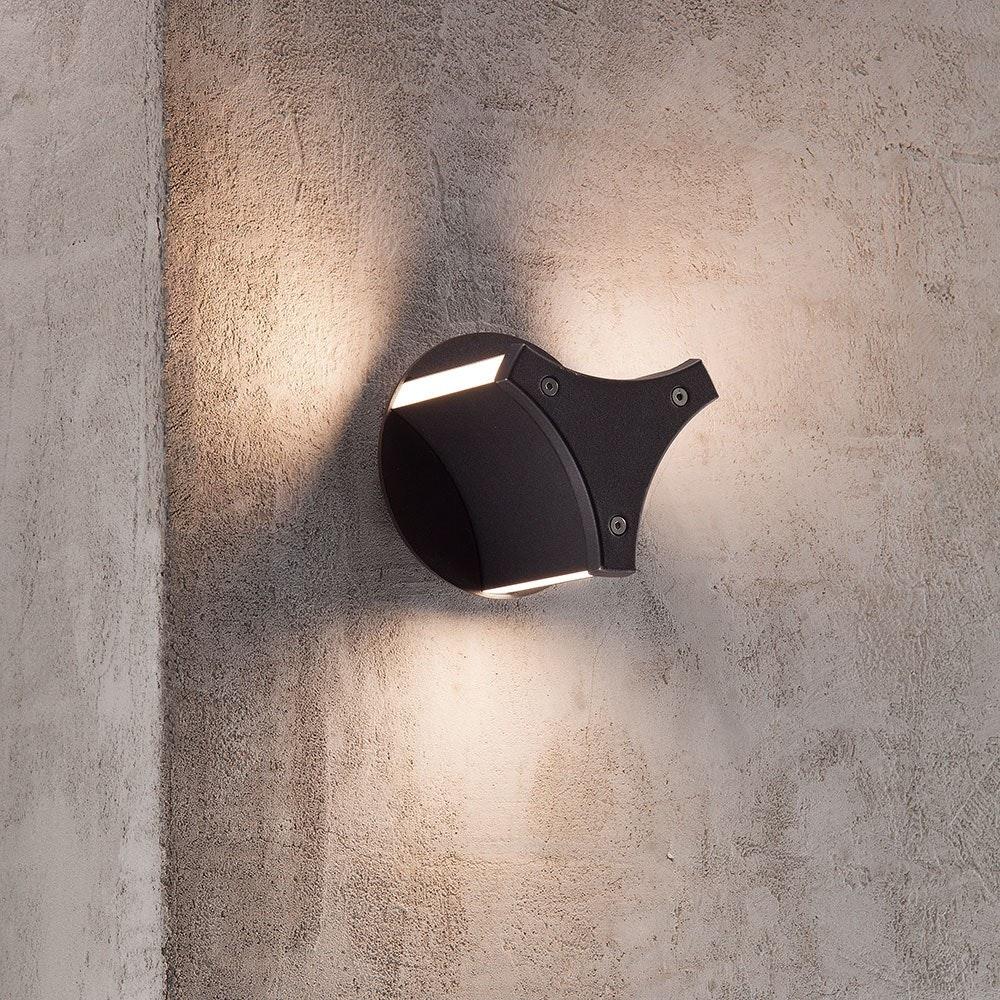 Design for the People Titus LED Aussen-Wandleuchte IP54 500lm Schwarz