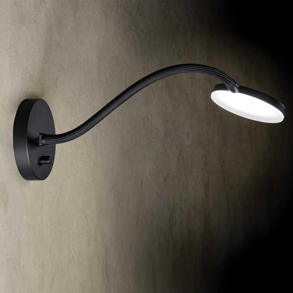 Holtkötter LED-Wandleuchte Flex W mit Drehdimmer Schwarz 1