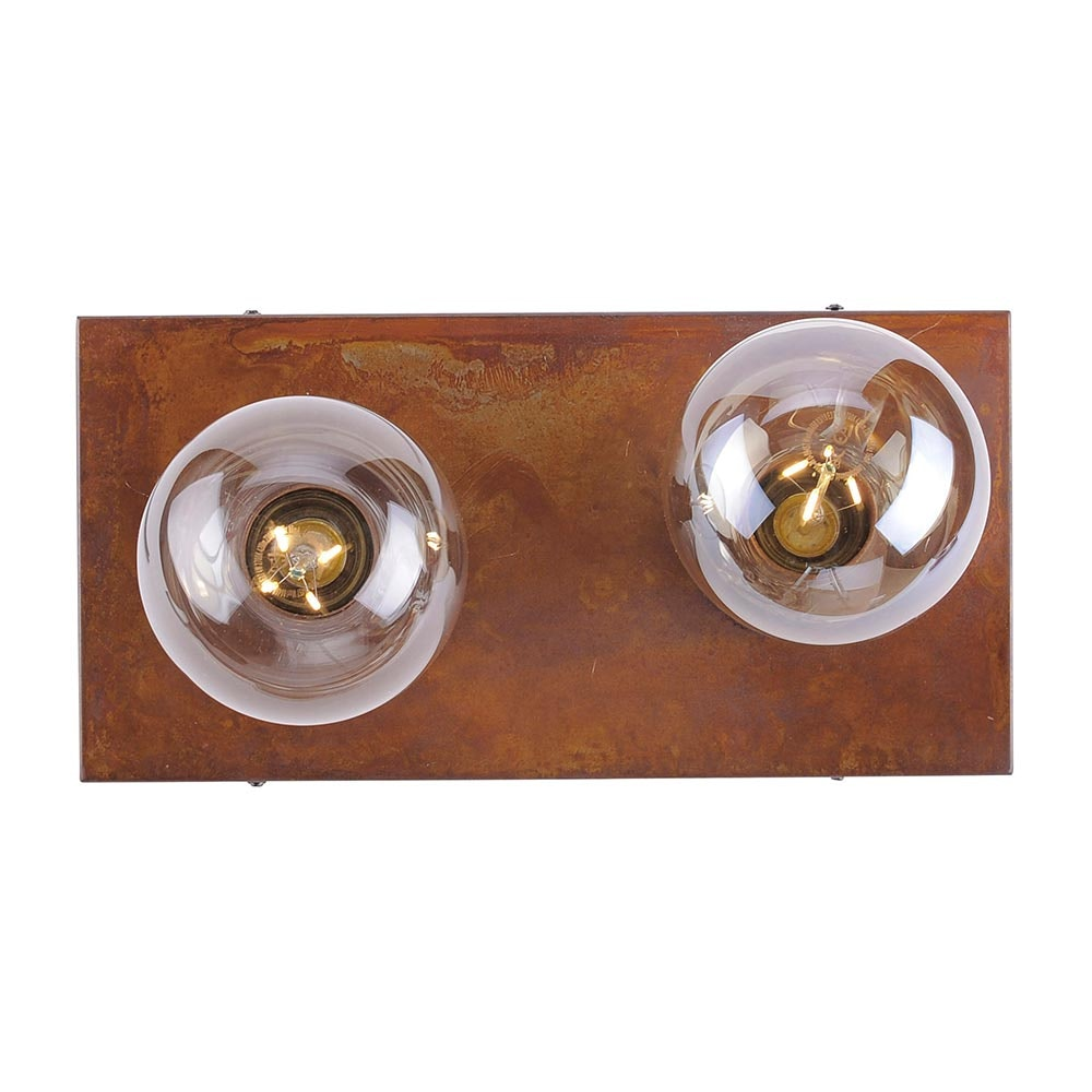 Deckenlampe Turn Me 2-flg. Rostfarben 5