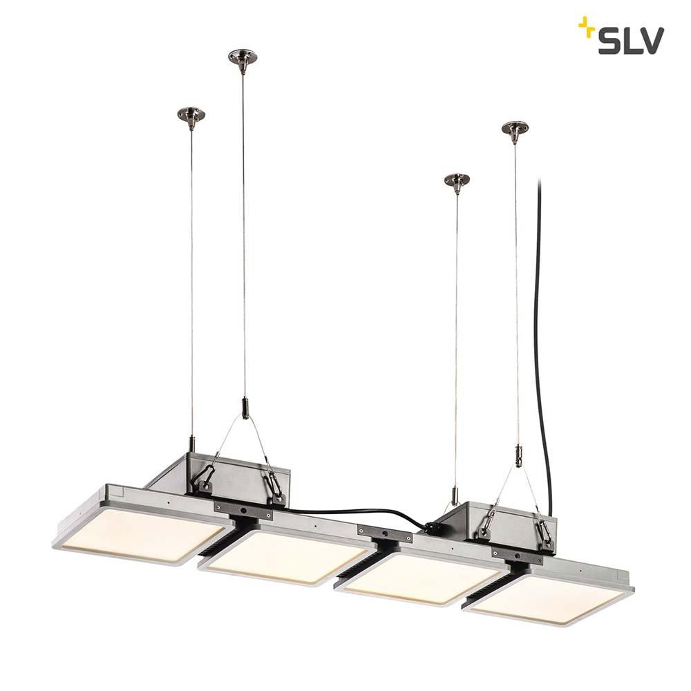 SLV Almino Quad LED Aussen-Deckenleuchte Grau IP65 2