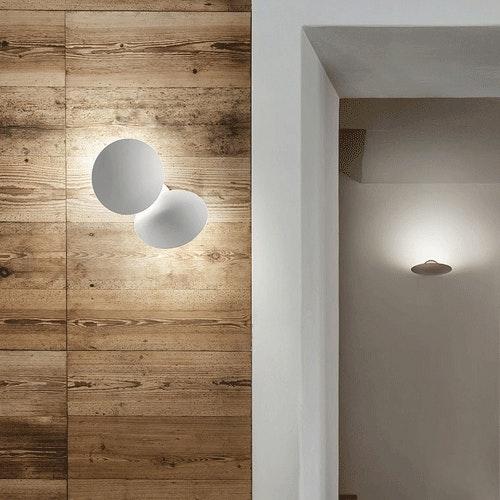 Studio Italia Design Puzzle Round Outdoor Double LED Wandlampe 2