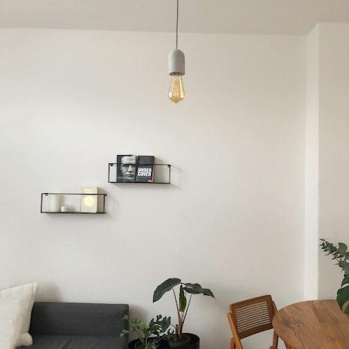 s.LUCE Plinth Textilkabel mit Fassung aus Beton Ø 6cm Grau 10