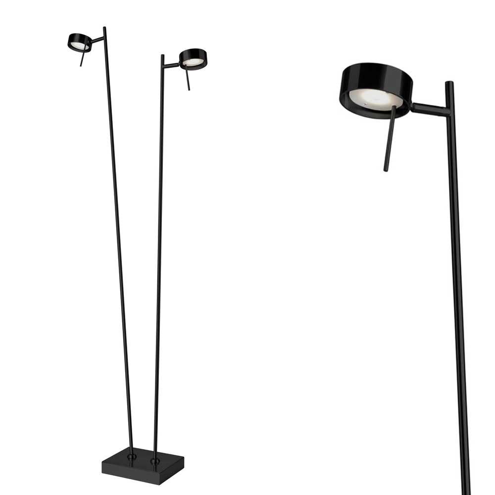 LED Doppel Stehleuchte Bling 140cm Schwarz Touchsensor