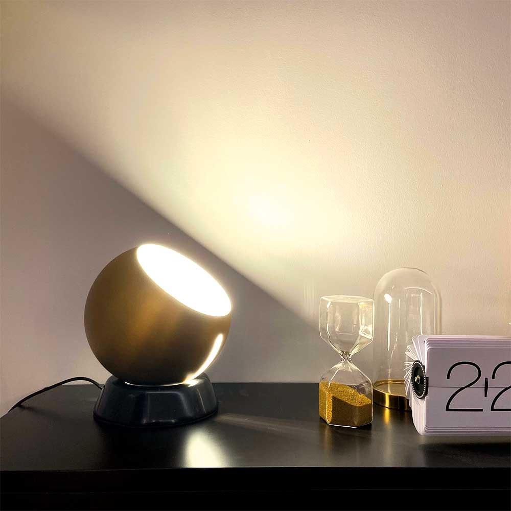 s.LUCE Ball Tischleuchte schwarzer Marmor Ø 20cm 2