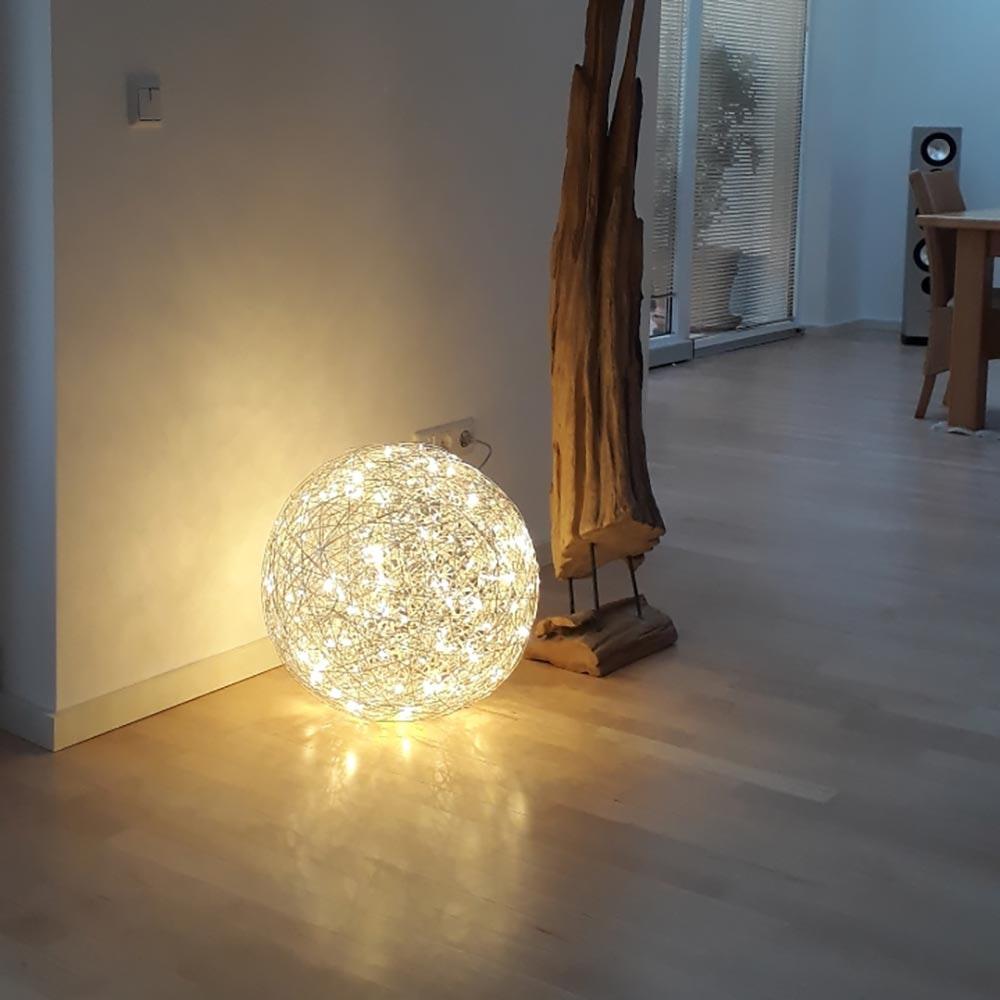 s.LUCE Mesh L LED-Drahtkugel Ø 50cm Innen & Aussen Warmweiß thumbnail 4