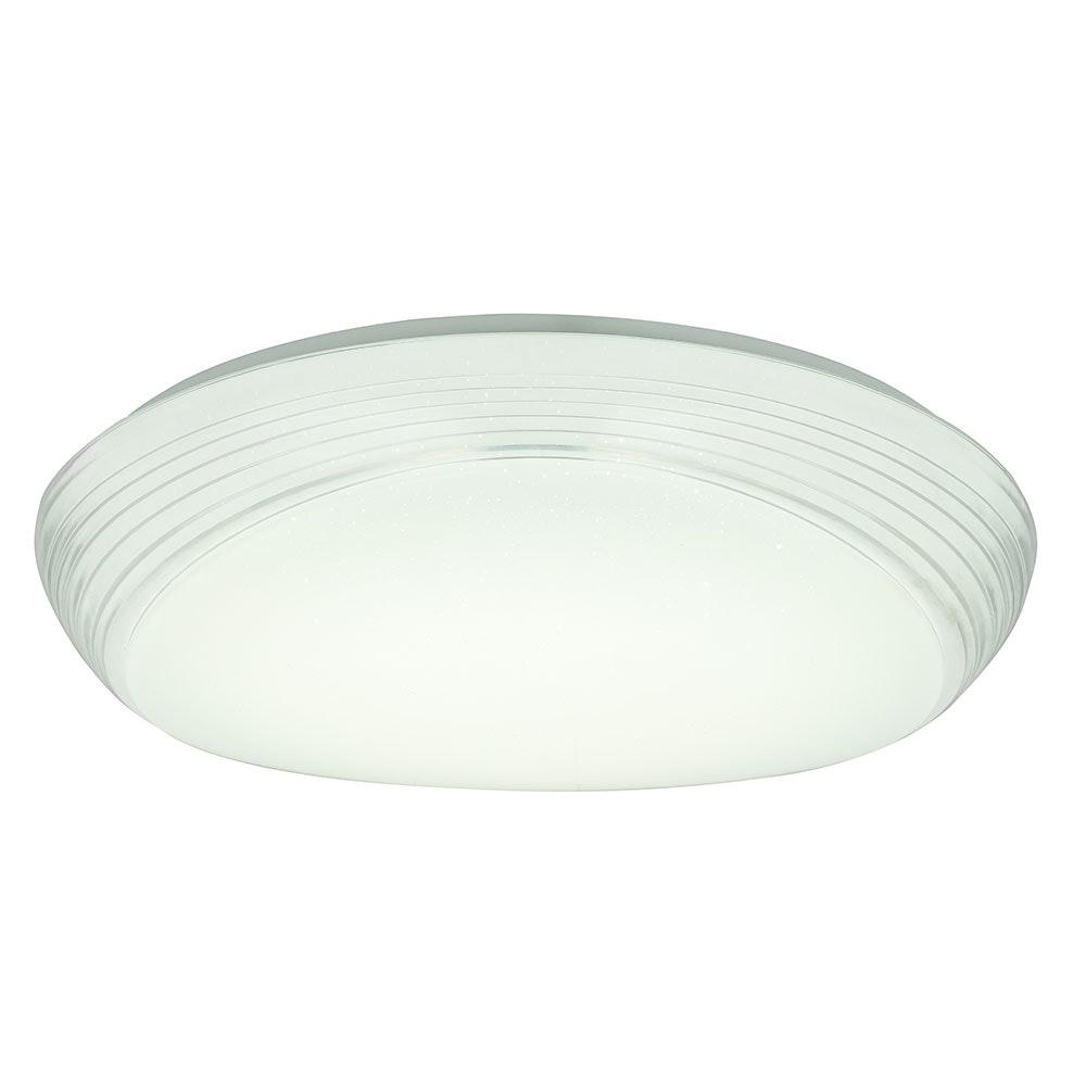 LED Deckenleuchte Lucas Sparkle Dekor CCT 3000-6000K Weiß, Opal 7