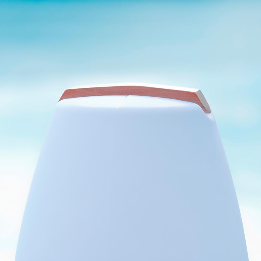 Akku LED-Dekolampe Vessel S mit Holzgriff & App-Steuerung 7