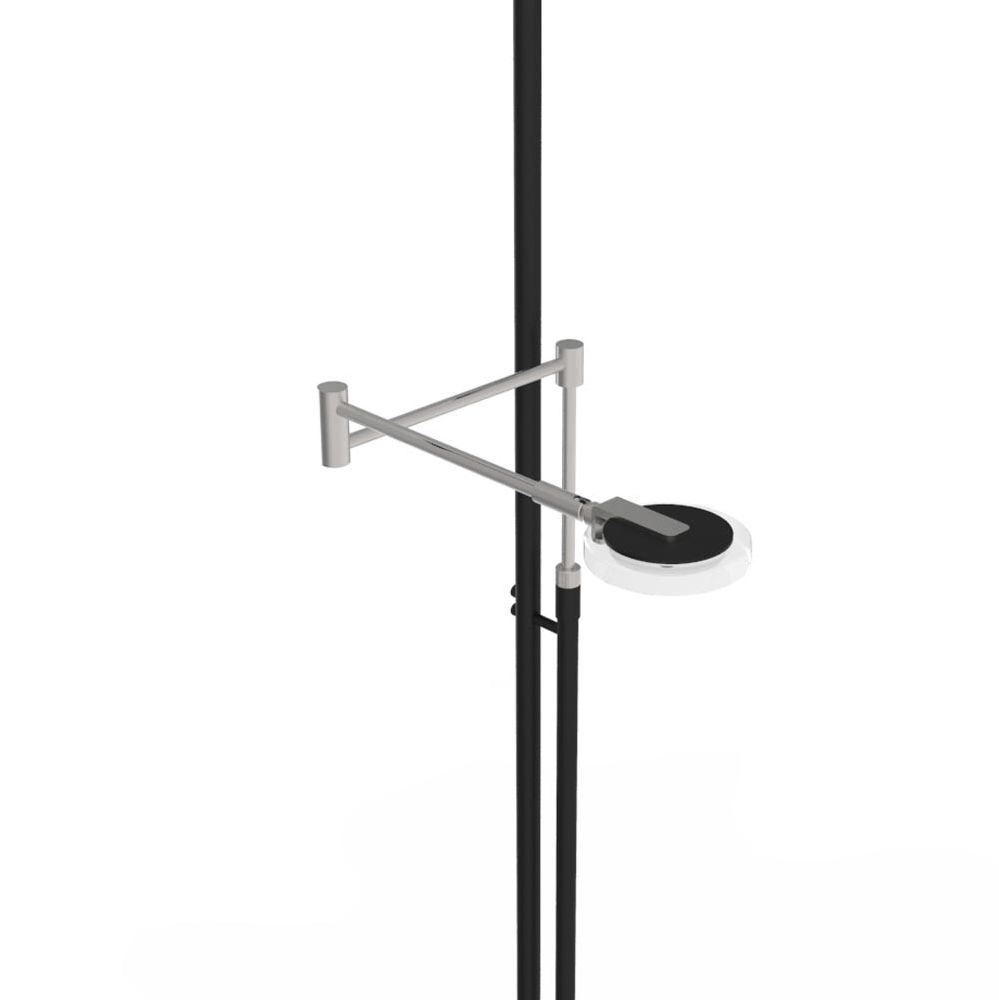 Steinhauer LED-Deckenfluter Turound LED mit Lesearm Tastdimmer 2700K 4