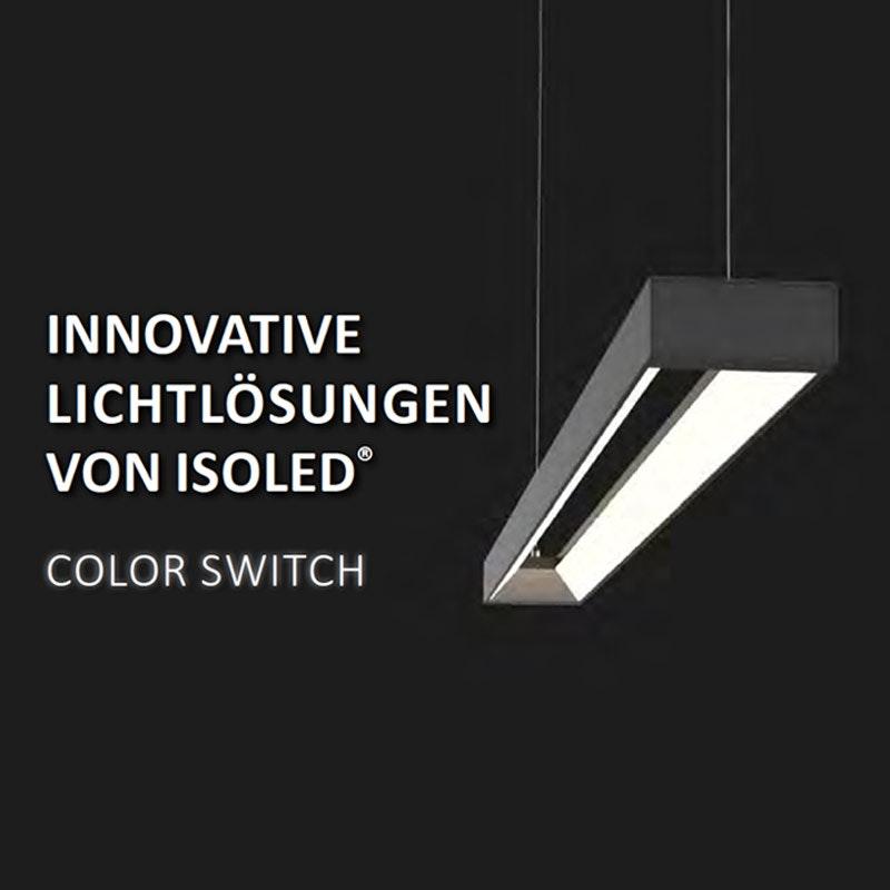 Büro LED Pendel-Schreibtischleuchte 3600lm Schwarz ColorSwitch 3000|4000|5700K 2