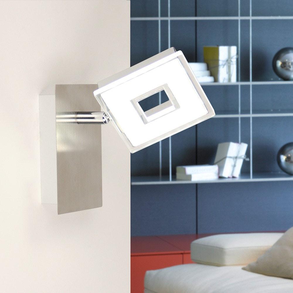 Sempre Cube LED Wand- & Spiegelleuchte drehbar Chrom