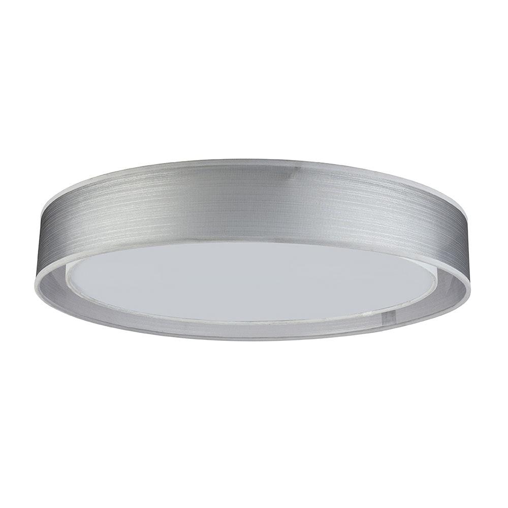 LED Deckenleuchte Theo CCT 3000-6000K Höhe Schirm 10cm Nickel-Matt, Grau, Satiniert 2