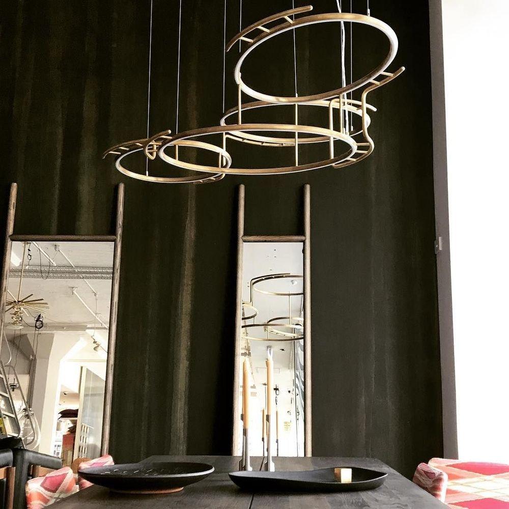 DCW Broche LED Kronleuchter Messing-natur thumbnail 5