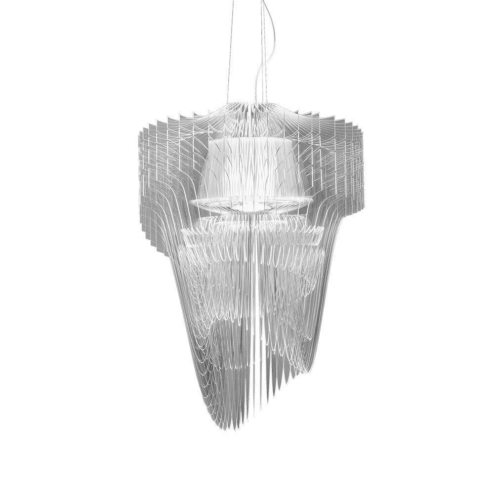 Slamp LED Pendelleuchte Aria Medium 3500lm 2700K Transparent 2