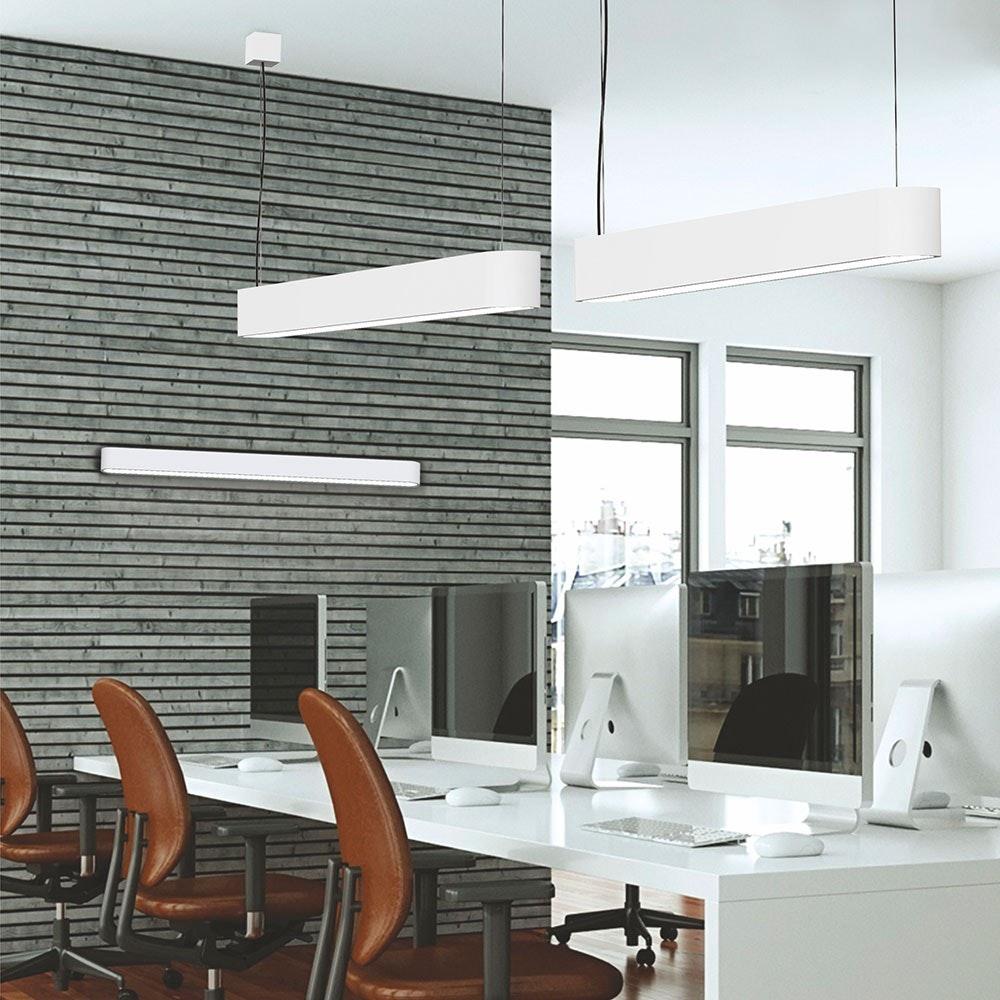 Talu Hänge-Schreibtischleuchte 120cm T8 22W Weiß