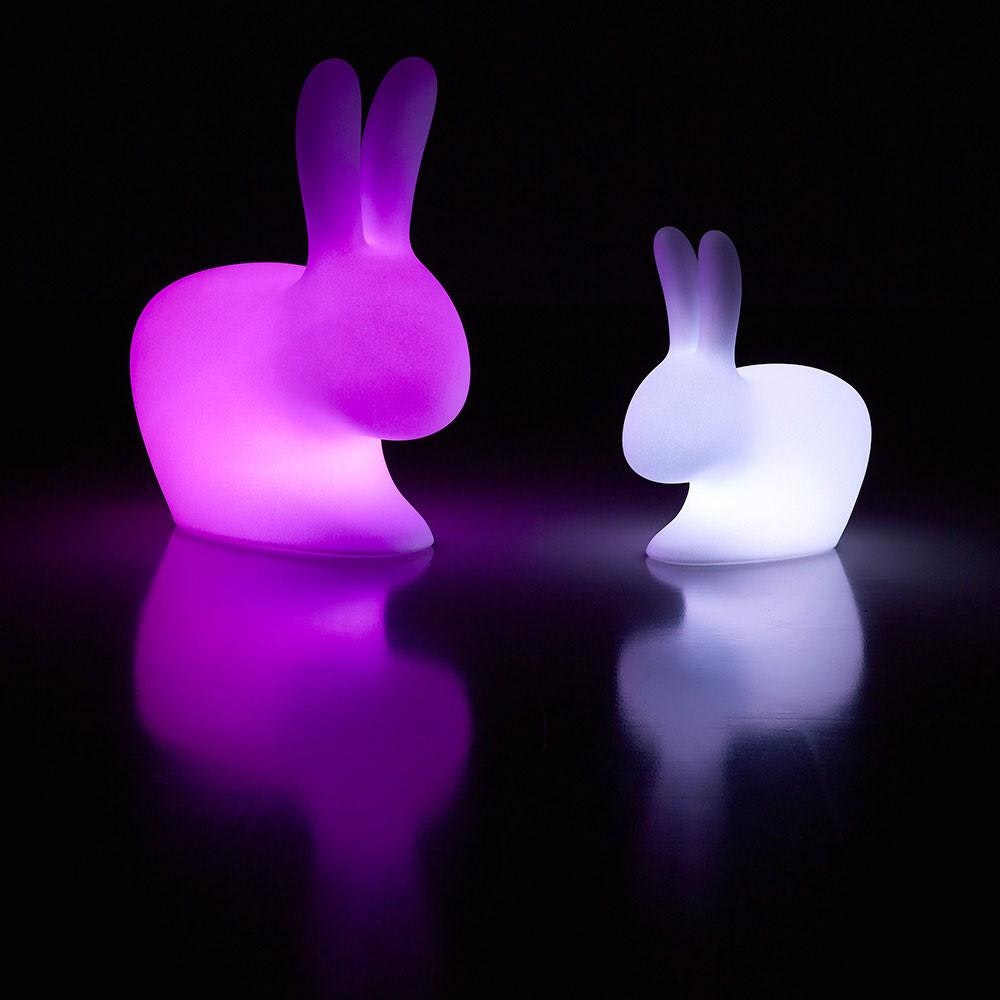 Qeeboo Rabbit LED Dekolampe mit farbigem Licht 4