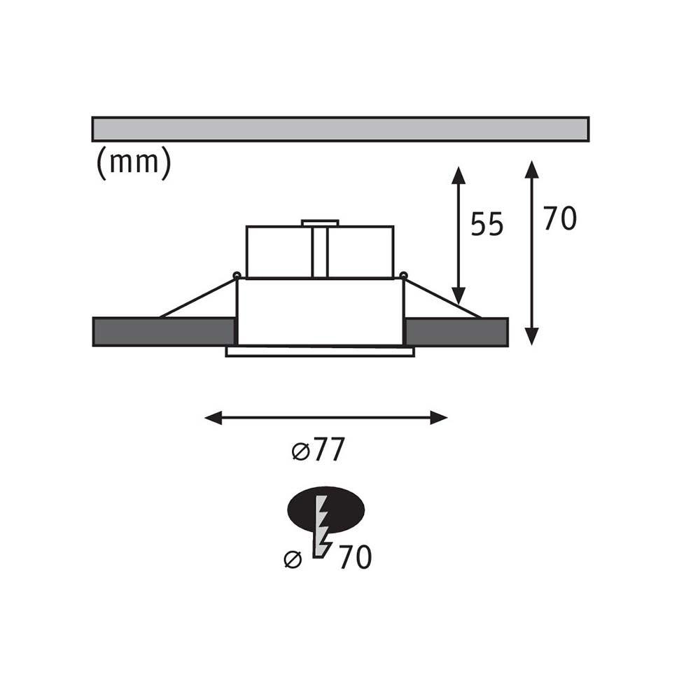 3er-Set LED Einbauleuchten Cymbal Coin starr Dimmbar IP44 2700K Weiß 6