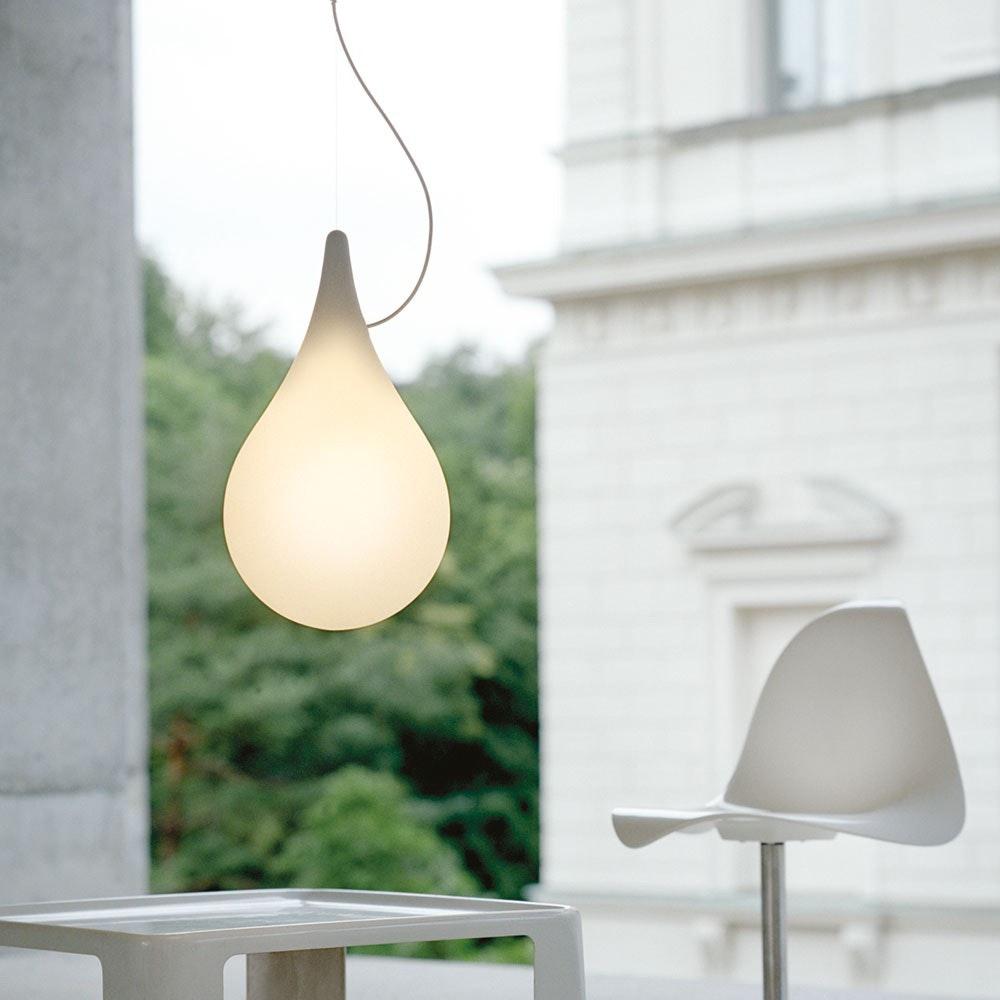 LED Einbau-Pendelleuchte Drop_2 xs Liquid-Light Ø 10cm Weiß