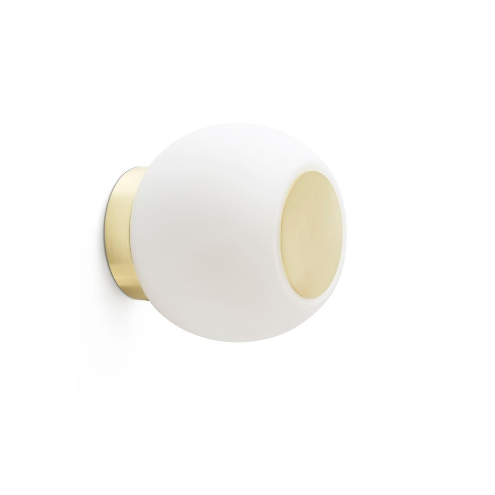 LED Decken- & Wandleuchte Moy 4W 3000K IP44 Goldfarben, Weiß