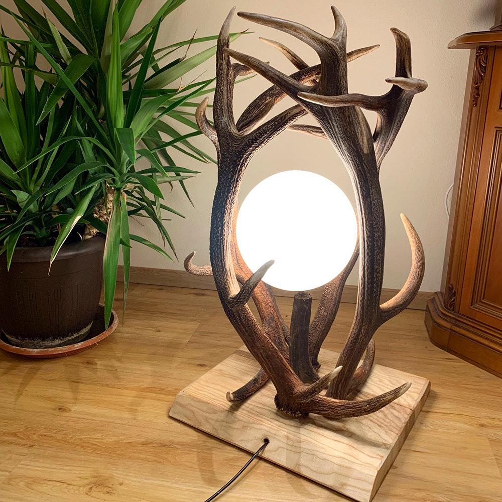Chalet Geweih Stehlampe Rothirsch 70cm 1