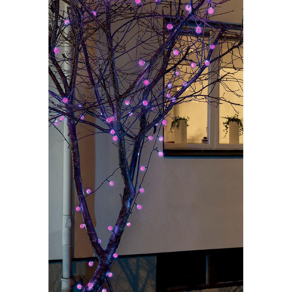LED Globelichterkette große runde Dioden mit RGB Farbwechsel 80 RGB Dioden IP44 1