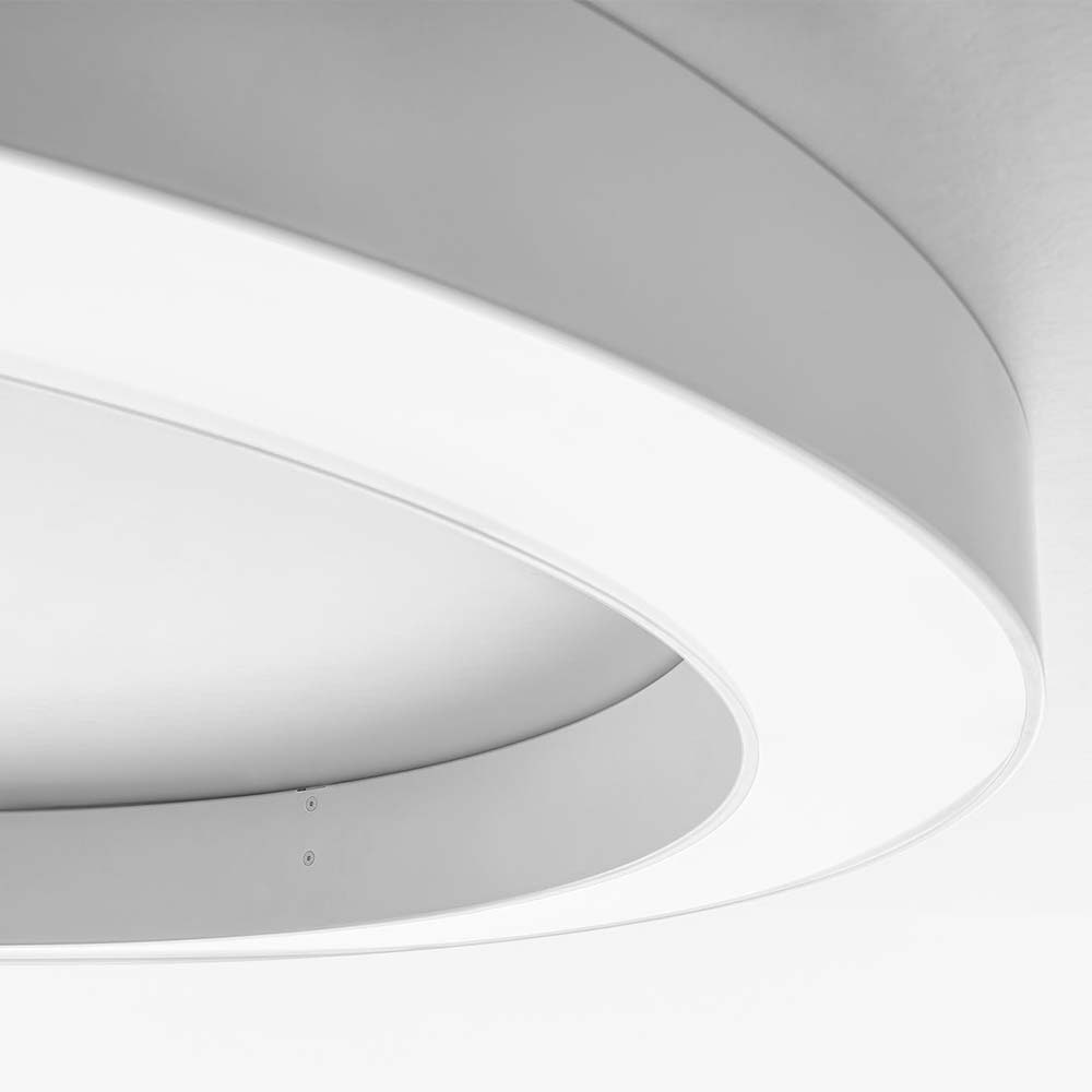 Panzeri Silver Ring LED-Deckenlampe dimmbar 4