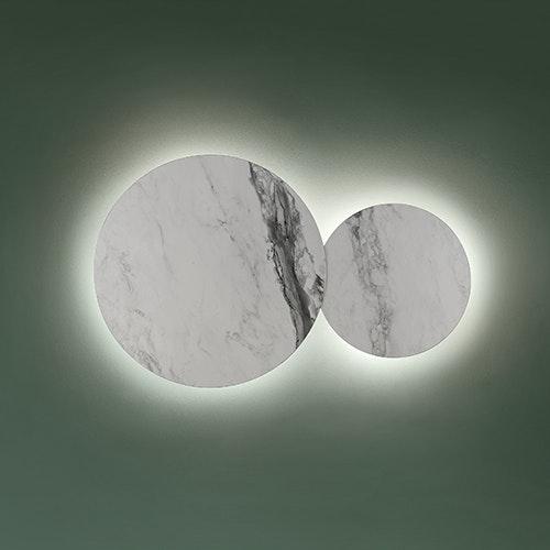 Studio Italia Design Puzzle Mega Round Ø 80cm Wand- & Deckenlampe Marmor 2