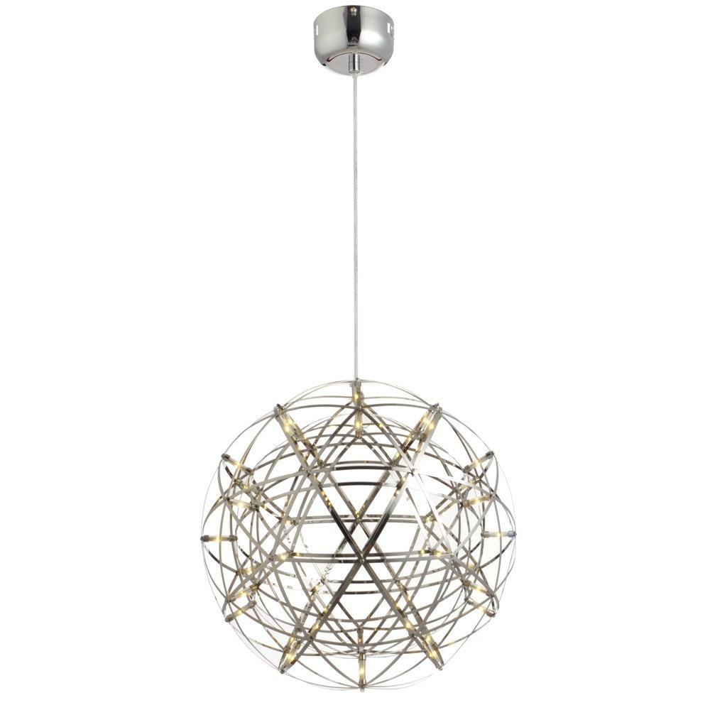 s.LUCE pro Atom 50 LED-Hängeleuchte Metallkugel 1134lm Chrom thumbnail 3
