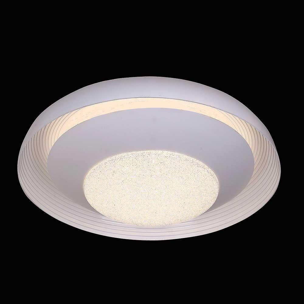 Mantra Ari LED-Deckenleuchte Weiß funkelnd 1