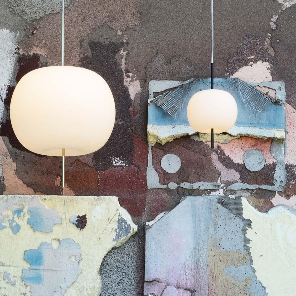 Kundalini Glas LED-Hängelampe Kushi Ø 33cm Dimmbar  thumbnail 3
