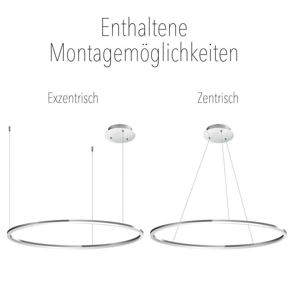 s.LUCE Ring 60 LED-Hängeleuchte 5m Abhängung 22