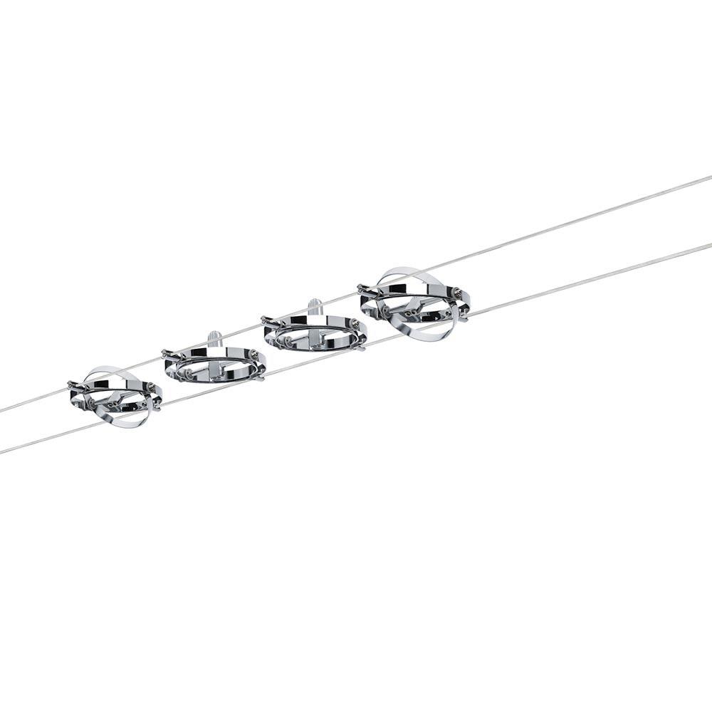 Seilsystem Cardan Chrom mit 4 Spots GU5,3