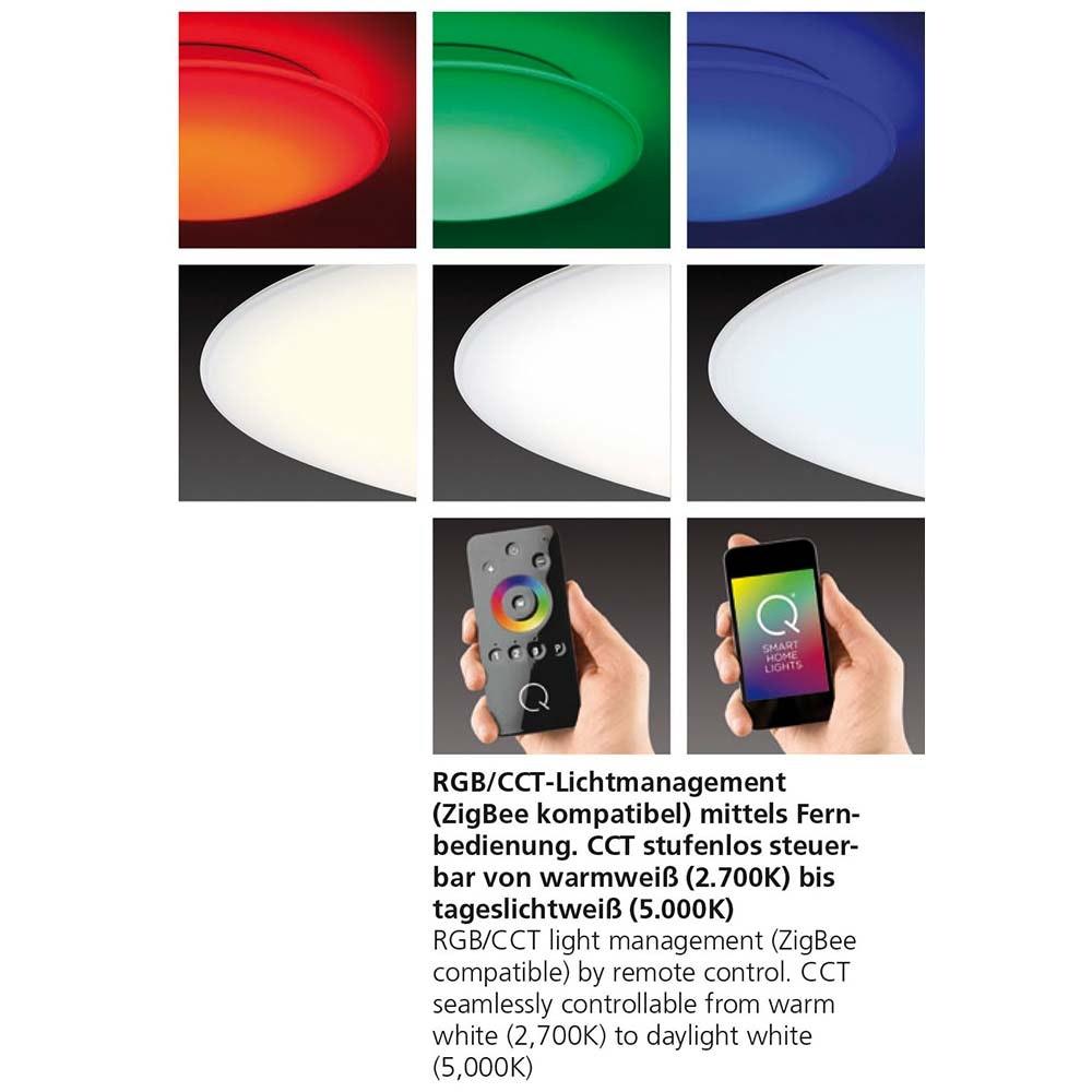 LED Deckenleuchte Q-Arktis RGB+CCT 9