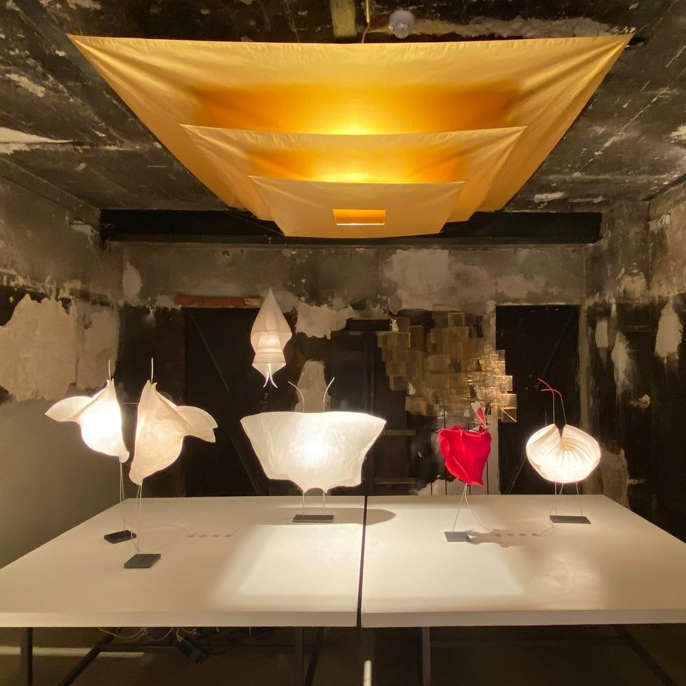 Ingo Maurer LED Tischlampe Samurai Papier 2