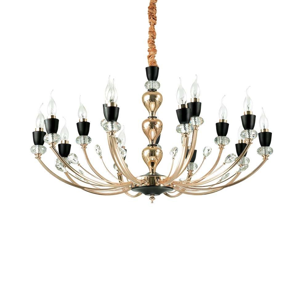 Ideal Lux Hängeleuchte Vanity 15-flg. Schwarz, Klar 2
