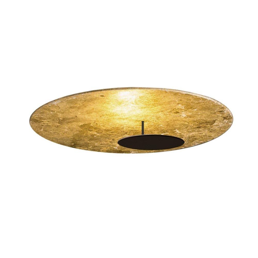 s.LUCE LED Wand- und Deckenlampe Plate Blattgold 20