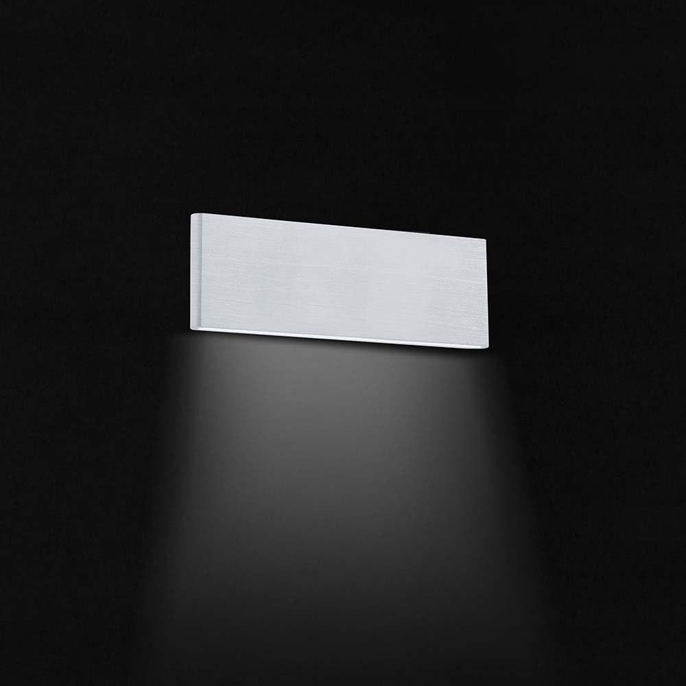 Climene LED Wandleuchte Alu-Gebürstet, Weiß 1
